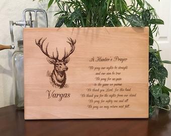 A Hunter's Prayer, Personalized Cutting Board, New Home Gift, Anniversary Gift, Deer, Elk, Antlers, Deer Hunter