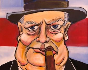 Winston Churchill (2017) by Mark Redfield