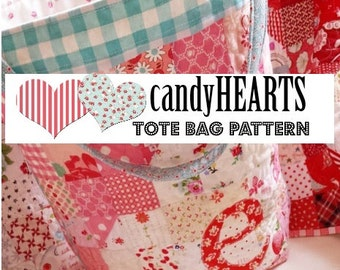candyHEARTS tote bag pattern by emily ann's kloset PDF