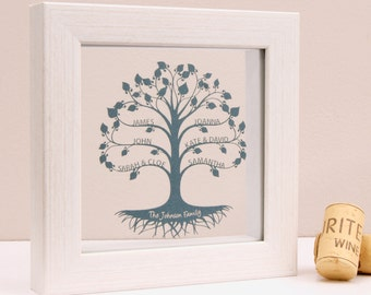 Framed Family Tree Papercut