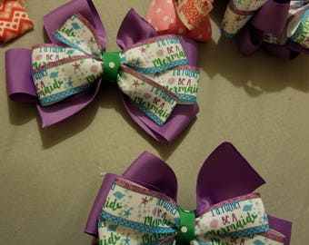 I'd rather be a mermaid bow