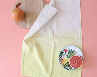 yellow dip dye tea towel limoncello yellow gift SALE