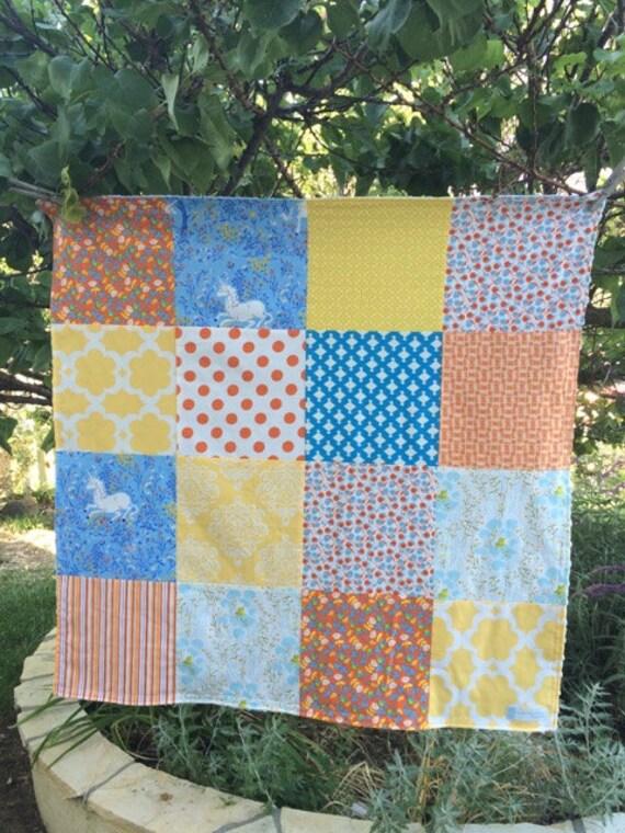 32x32 Far Far Away Gender Neutral Baby Blanket Ready to Ship