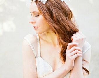 Hochzeitsstirnband, Blumen Stirnband, Perle Braut Stirnband, Hochzeitshaare, Braut Haar Weinstock, Krone - Stil 315