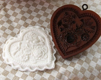 Rose Heart Cookie Mold