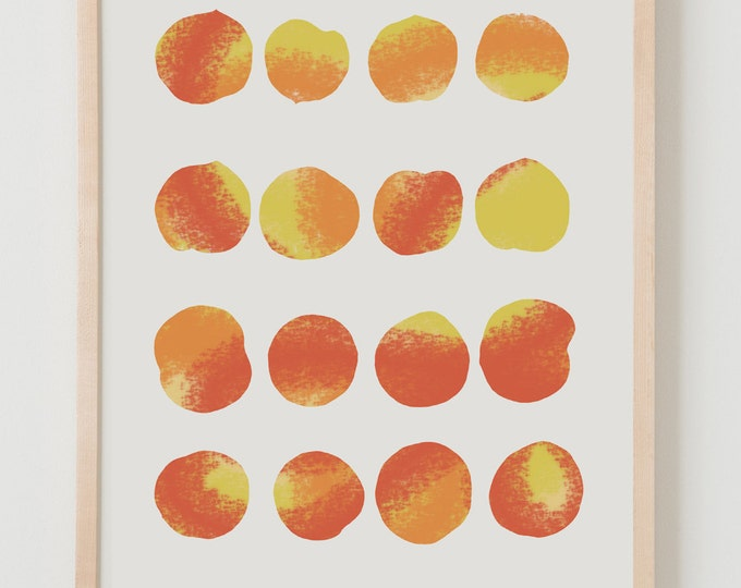 Fine Art Print.  Peaches.  July 24, 2012.