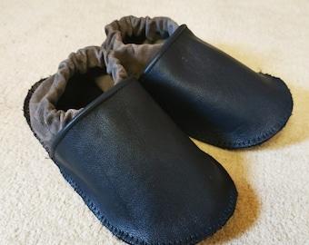 Leather push, crawling shoes