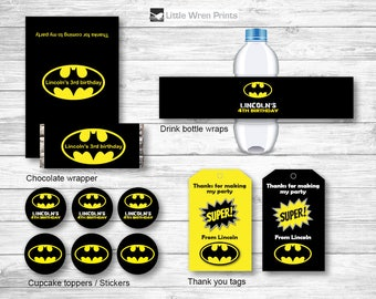 Batman printables, batman party invite, superhero invitation, superhero party, batman birthday party, batman invite, batman birthday
