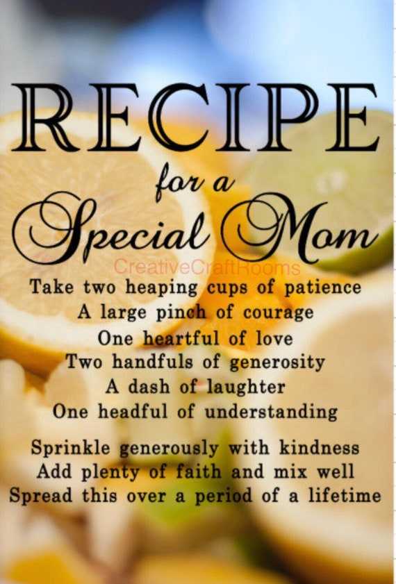 Glass cutting board, Mom's Kitchen glass cutting board, Recipe for a Special Mom cutting board, mom's chopping board, kitchen cutting board