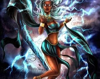Lightning Mutant Girl