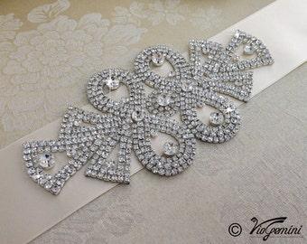 Bridal sash, rhinestone sash, wedding sash, jeweled sash belt, wedding  sash belt, wedding belt