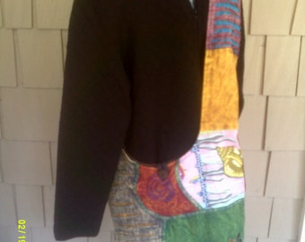 Vintage Cross Body Shoulder Tote Bag, by Just Cruising, Fabric Shoulder Tote, Fabric Cross Body Bag, Cross Body Tote, Artsy Shoulder Tote