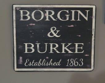 Harry Potter Borgin & Burke store front sign