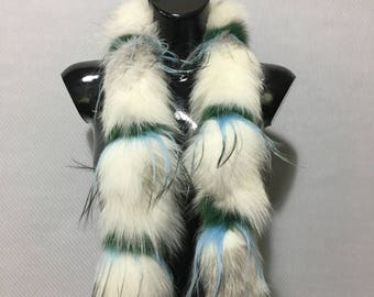 Mix Color Real Fox Fur Scarf