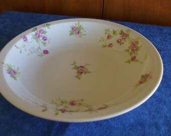 Vtg Soup or Trinket Bowl with Hand painted Roses