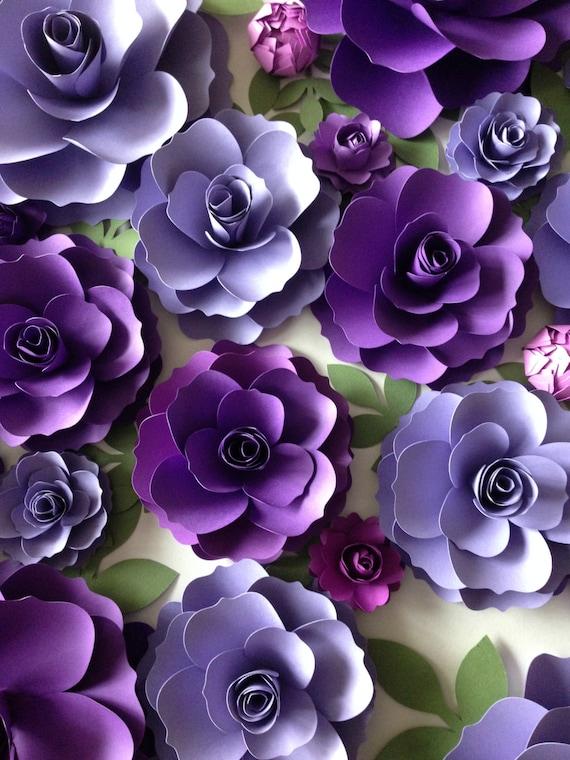Purple paper flowers wedding arch decor flower backdrop mightylinksfo