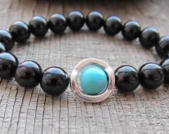 Black onyx bracelet Meditation Bracelet Men's Bracelet Agate Bracelet Bracelet For Men Black Bracelet Mens Gift Bracelet Men's Jewelry