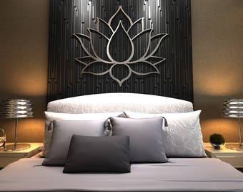 XL Lotus Flower Metal Wall Art, Contemporary Sculpture, Extra Large Wall Art, Lotus Flower Art, Silver Wall Art, Yoga Wall Art, Wall Decor