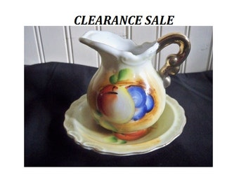 Fruit Pitcher and Plate - Creamer - CLEARANCE SALE