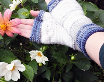 Fingerless gloves Knit Fingerless gloves Womens Fingerless  Hand Knit Arm Warmers Long Fingerless Mittens Knitted Boho Gloves  Gift for Her