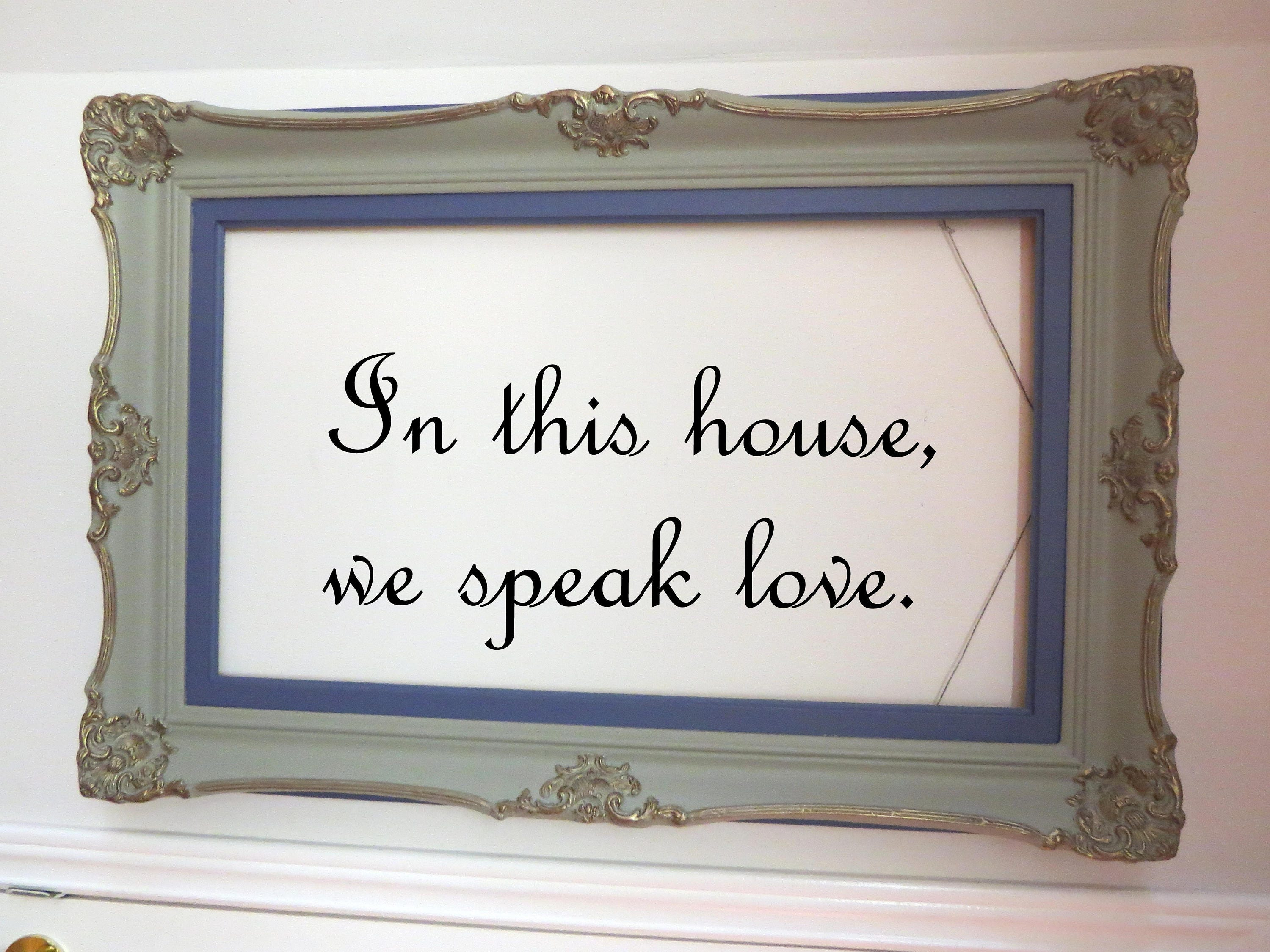 Picture frame stencil frame home decor gold shabby empty zoom jeuxipadfo Image collections