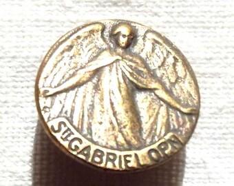 St. Saint Gabriel Button