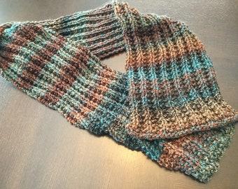 Striped Tweed scarf