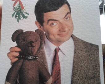 Homemade Mr Bean Christmas Card (version 2)