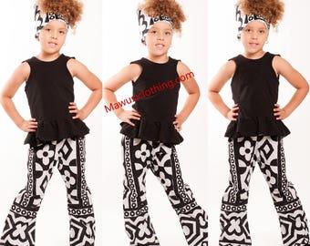 NEW African Print Girls Ankara Pants, Children Pants, Children Dashiki Pants, Children Kente Pants, Children Mud Cloth Pants, Tribal Prints