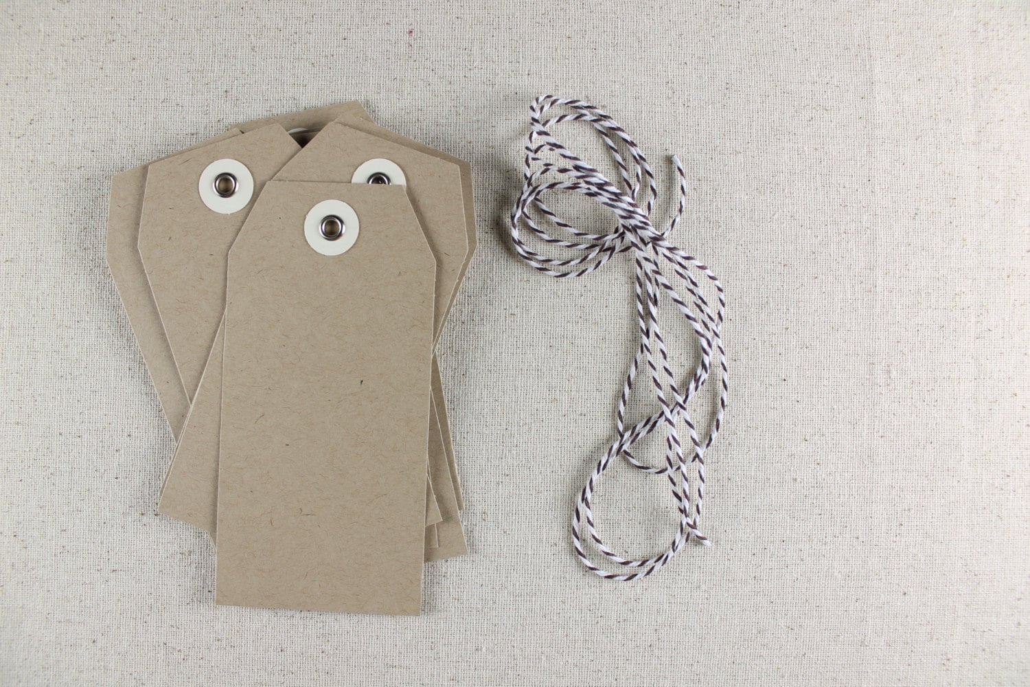 Kraft or white hang tags with eyelets for wedding favors, craft ...