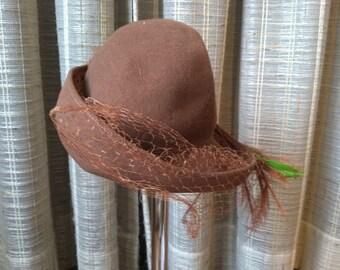 Vintage brown Glenover Henry Pollak hat