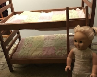 Wood bunk bed fits American girl doll SALE