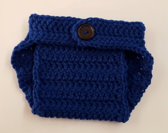 Crochet Baby Boy Baby Girl Diaper Cover, Photography Prop, Size Newborn and Infant – Royal