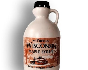 Pure Wisconsin Maple Syrup Quart