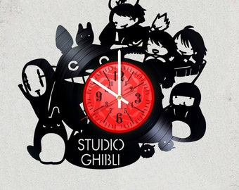 Studio Ghibli 12 inch / 30 cm ViNYL WAll ClOCK MOVIE Valley of the Wind wall clock gifts for GHIBLI STUDIO gift for kids Totoro