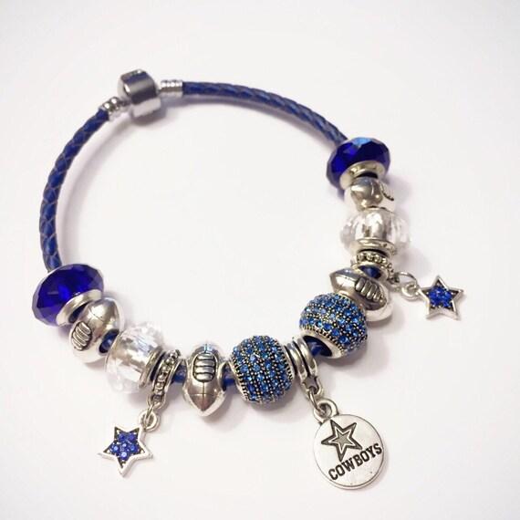 dallas cowboys murano faceted charm bracelet cowboys bracelet. Black Bedroom Furniture Sets. Home Design Ideas