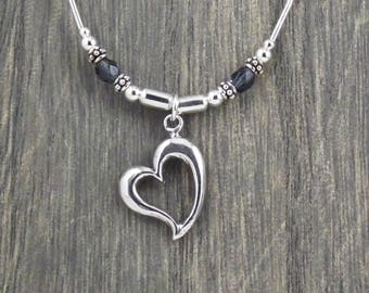 Heart Necklace - Sterling Silver