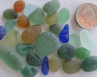 English sea glass  colour collection blues,seafoam,teal,lime,green,amber (27)pieces
