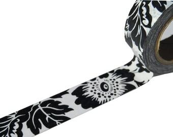 Black Floral Flowers Washi Masking Planner Tape