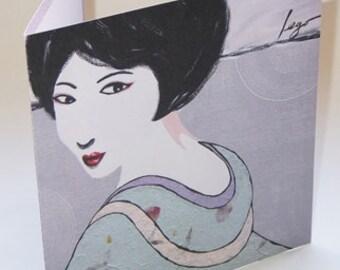 JAPAN2 greeting card