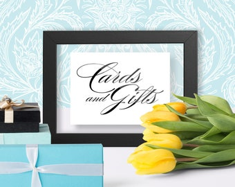 Wedding Cards And Gifts Sign, Gift Table Sign, Cards Wedding Sign, Sign For Wedding Cards And Gifts Table, Instant Printable