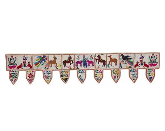 TEXTILE FRIEZE - Wall Frieze with Krishna and animals