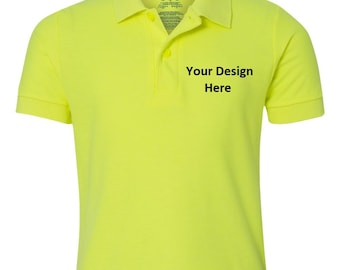 Custom Embroidered YOUTH Polo Shirt--More Colors
