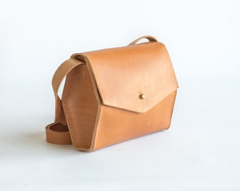 Geometric Crossbody Leather Bag