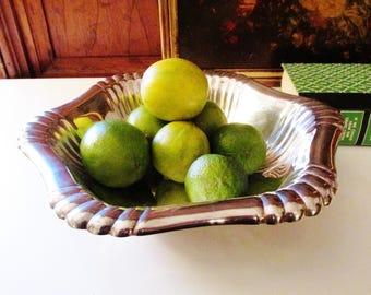 Vintage Gorham Silver Plate Bowl, Fruit Bowl, Hollywood Regency, Coffee Table Decor, Vintage Silver Bowl
