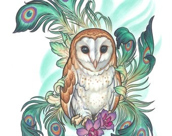 Owly, limited edition print