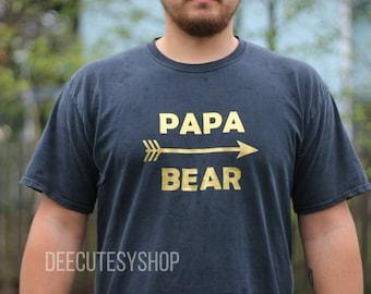 Papa Bear Iron on, Arrow, Gold, Gold Glitter, DIY, Iron, Dad Iron On, Iron On Decal, Heat Transfer, Papa Bear, Black, White, Blue, Pink