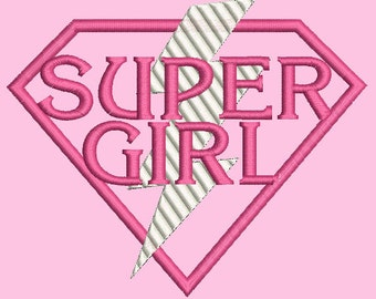 5 super hero logos-boy, girl, mom, dad and baby machine embroidery designs