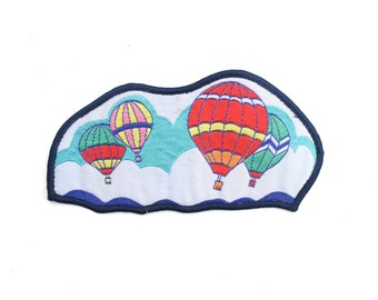 """Vintage Whimsical Hot Air Balloons Flight Patch 5"""" x 2.5"""""""