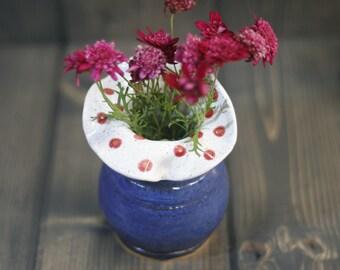 small handmade bud vase